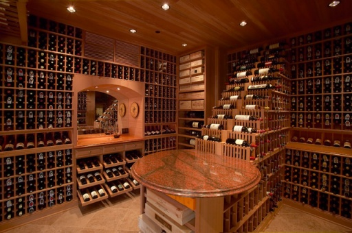 Wine cellars are popular in calgary luxury homes for Luxury home wine cellars
